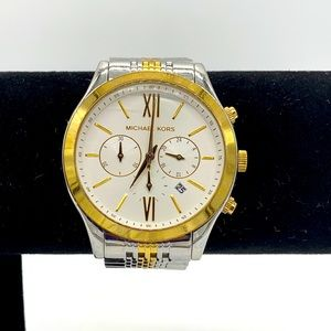 Michael Kors White Gold Tone Women's Wristwatch